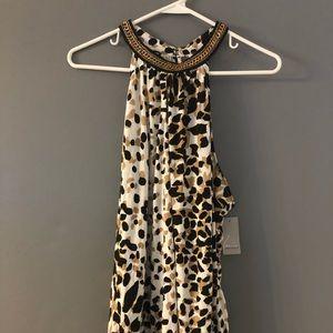 Tops - NWT. Lane Bryant Leopard Top choker neck sz. 18/20